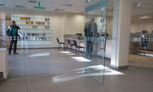 Stiklo dirbtuvės - Įėjimas